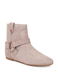 Ted Baker Sonoar Studded Suede Ankle Boots Light Grey