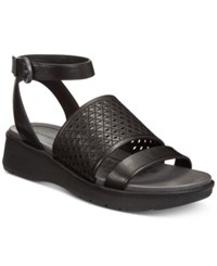 Bare Traps Rockwell Platform Wedge Sandals Women's Shoes Black