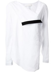 Dion Lee 'Axis' Wrap Blouse White