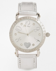 Lipsy Watch With Silver Leather Look Strap