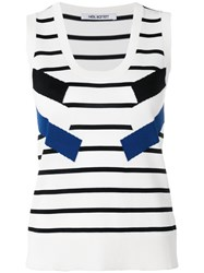 Neil Barrett Striped Knit Tank White