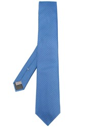 Canali Micro Dots Tie Blue