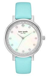 Kate Spade Women's New York 'Monterrey' Leather Strap Watch 38Mm Turquoise