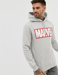 Pull And Bear Pullandbear Marvel Hoodie In Grey