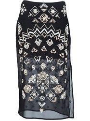 Altuzarra 'Zeramika' Beaded Skirt Black