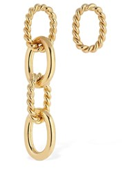 Isabel Lennse Miss Matched Chunky Twisted Earrings Gold