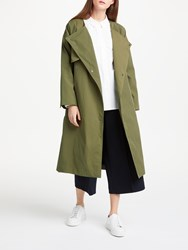 John Lewis Kin By Collarless Trench Coat Khaki