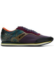 Etro Paisley Runner Sneakers Pink And Purple