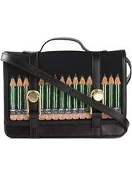 Olympia Le Tan 'Pencil' Satchel Black