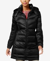 Bcbgeneration Hooded Quilted Puffer Coat Black