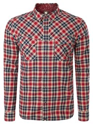 Pretty Green Winter Check Shirt Red
