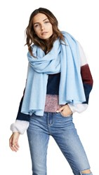 Bop Basics Cashmere Scarf Blue Heather