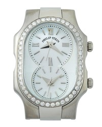 Philip Stein Teslar Signature Diamond Dual Dial Watch Head Silver