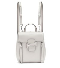 Tod's Double T Leather Backpack Grey