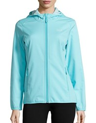 Jack Wolfskin Softshell Fleece Lined Activewear Jacket Icy Water