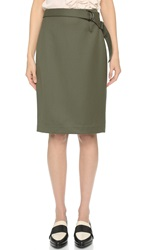 3.1 Phillip Lim Utility Strap Pencil Skirt Olive