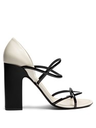 Fabrizio Viti Round 'N' Round Leather Sandals White Black