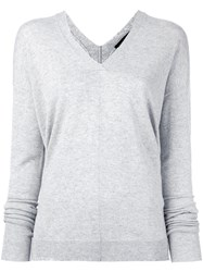 Piazza Sempione V Neck Jumper Grey