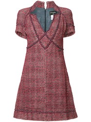 Chanel Vintage Boucle Dress Red