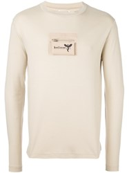 Walter Van Beirendonck Vintage Pocket Detail Longsleeved T Shirt Nude And Neutrals
