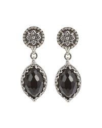 Konstantino Silver And Marquise Onyx Drop Earrings Black