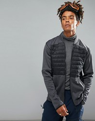 O'neill Activewear Kinetic Quilted Sweat Jacket In Black Grey Blackout