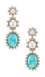 Elizabeth Cole Priscilla Earrings In Blue. Turquoise