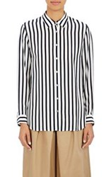 Tomorrowland Awning Striped Blouse Blue