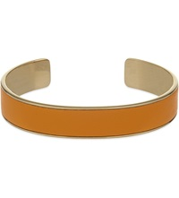 Aspinal Of London Cleopatra Skinny Leather Inlay Cuff Bangle M Orange