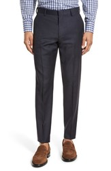 J.Crew Men's Flat Front Solid Wool Trousers Navy