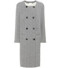 Etoile Isabel Marant Effie Wool Blend Coat Grey