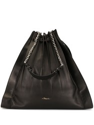 3.1 Phillip Lim Large Florence Pleated Drawstring Tote Black
