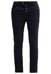 Tom Tailor Denim Lynn Trousers Knitted Navy Dark Blue