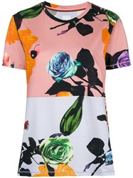 Paul Smith Floral Print T Shirt Pink And Purple