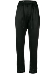 Di Liborio Drop Crotch Drawstring Trousers Black