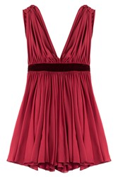 Dsquared2 Gathered Mini Dress Red