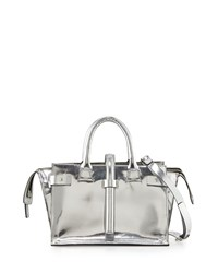 Cnc Costume National Mirrored Leather Tote Bag Silver Costume National