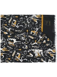 Dolce And Gabbana Jazz Musicians Scarf Black
