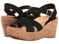 Kork Ease Ava 2.0 Black Suede Women's Wedge Shoes