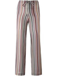 Theory Striped Straight Trousers