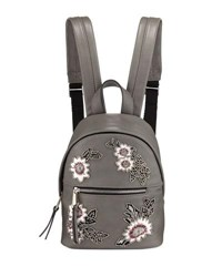 French Connection Jace Small Embroidered Backpack Gray