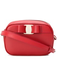 Salvatore Ferragamo Vara Bow Shoulder Bag Red