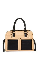 L.A.M.B. Isla Leather Satchel Beige