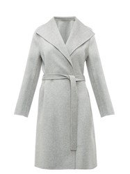 Joseph Lima Belted Double Faced Wool Blend Coat Grey