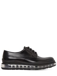 Prada Levitate Brushed Leather Derby Shoes Black