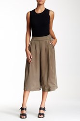 Modern Vintage Wide Legged Cropped Pant Green