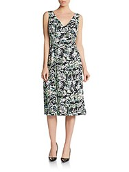 Anne Klein Floral Print Dress Clear Water
