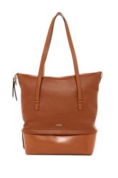 Lodis Kate Barbara Leather Commuter Tote Brown