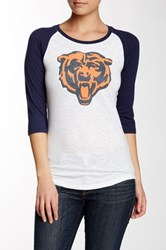 Outerstuff Bears 3 4 Length Sleeve Scoop Raglan Tee Multi