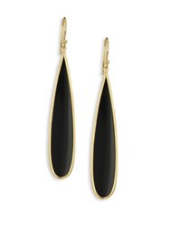Ippolita Polished Rock Candy Long Black Onyx And 18K Yellow Gold Drop Earrings Gold Black